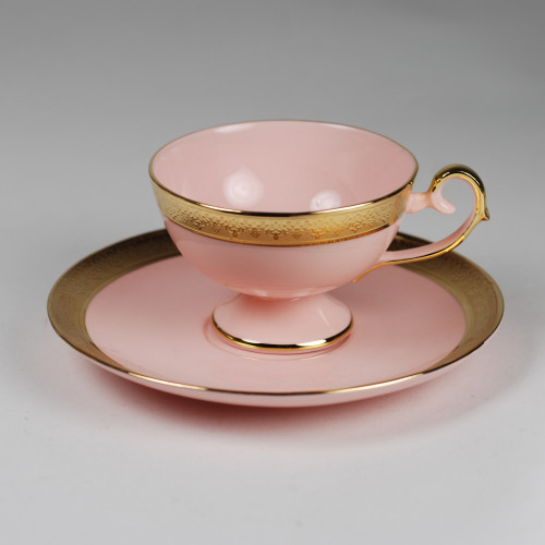 Prometheus coffea cup with relief (pink porcelain)