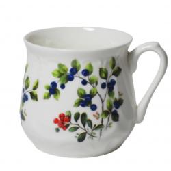 Silesian mug - decoration blueberries