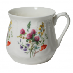 Silesian mug - decoration wild flowers with clover