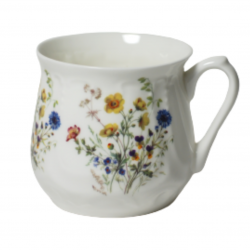 Silesian mug - decoration wild flowers with cowslipsi