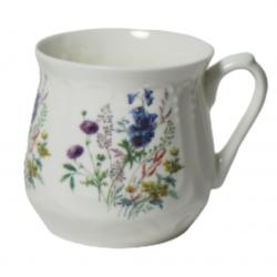 Kubek śląski (duży) - dekoracja kwiaty polne z dzwoneczkami