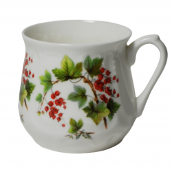 Silesian mug - decoration red currents