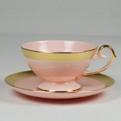 Filiżanka Prometeusz herbata - relief (różowa porcelana)