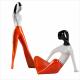Dziewczyna w spodniach i dziewczyna siedząca  (dek. pomarańczowa drapana)