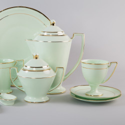 Coffeepot Pola with gold (emerald porcelain)
