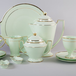 Coffee set Pola with gold (emerald porcelain)