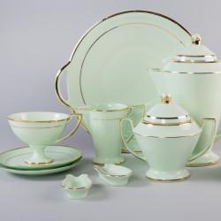 Milk jug Pola with gold (emerald porcelain)
