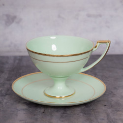 Tea cup Pola fo with gold (emerald porcelain)