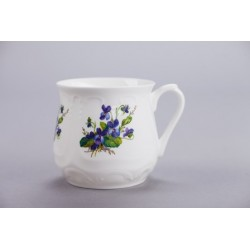 Silesian mug - decoration violets