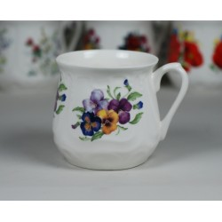 Silesian mug - decoration pansies