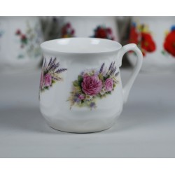 Silesian mug - decoration roses  with lavender