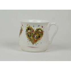 Kubek śląski (duży) - dekoracja Serce Cztery Pory Roku Lato