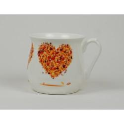 dekoracja pomarańczowe serce