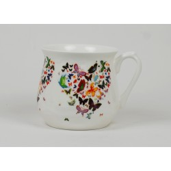 Silesian mug - decoration Hart of butterflies